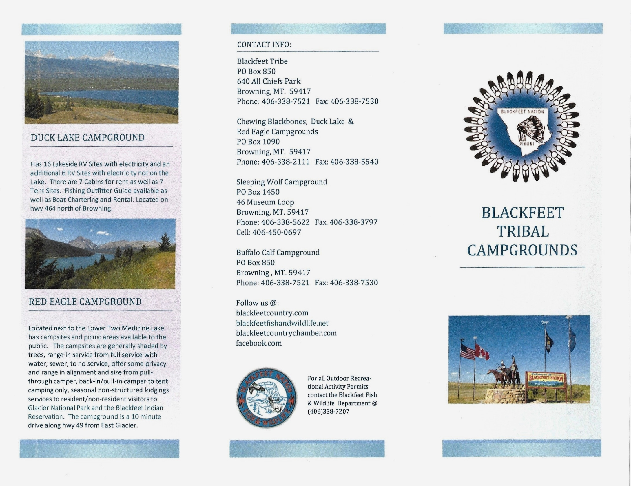 Blackfeet Tribal Campgrounds